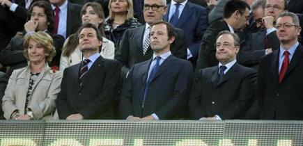 El palco de autoridades del Camp Nou.   EFE