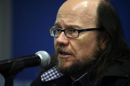 Santiago Segura, en la rueda de prensa de presentación de \'Torrente 4\' en Montevideo. | EFE