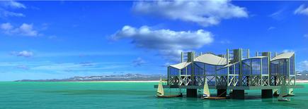 Un ejemplo de isla artificial. | Seasteading Institute