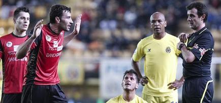 Imagen del partido entre el Villarreal y el Mirandéz. | EFE