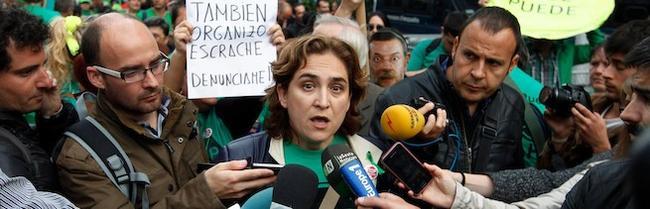 Ada Colau, en uno de los actos de acoso | Cordon Press