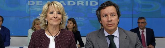 Aguirre y Floriano durante la reunión | PP de Madrid