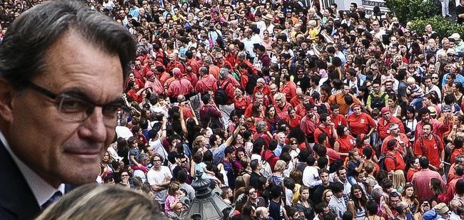 Artur Mas, el pasado martes, durante las fiestas de La Merced en Barcelona   Cordon Press