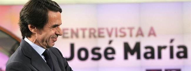 Aznar en el plató de Antena 3 | EFE