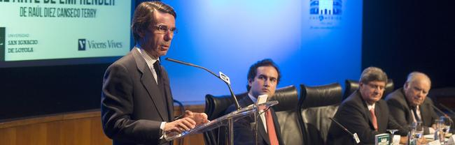 Aznar, durante la presentación del libro | FAES