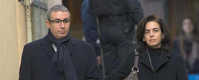 Diego Torres y su mujer, Ana María Tejeiro, este sábado en Palma | EFE