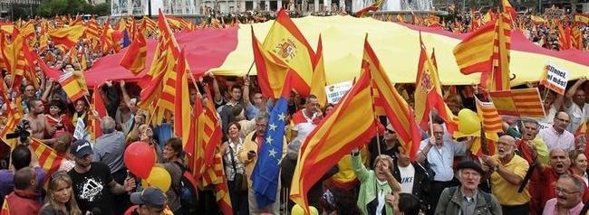 Celebración del 12 de octubre el año pasado en Barcelona