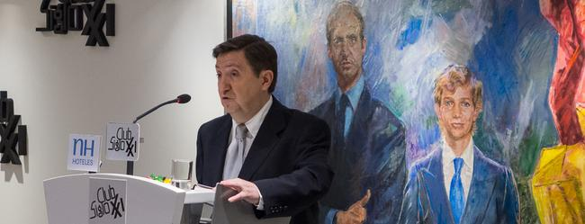 Jiménez Losantos, en un momento de la conferencia | C.Jordá