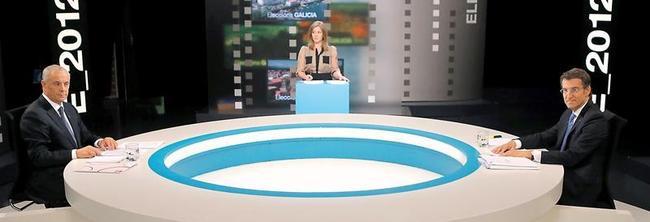 Feijóo y Pachi Vázquez en el debate | EFE