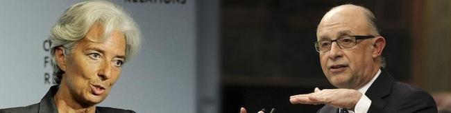 La directora gerente del FMI, Christine Lagarde y el ministro de Hacienda, Cristobal Montoro | Archivo