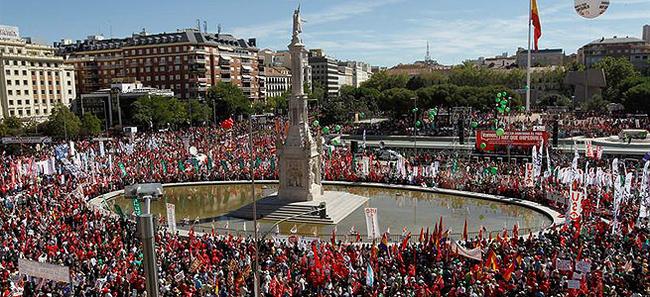 Apecto de la plaza de Colón en Madrid | EFE