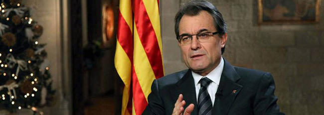 El presidente catalán, en un momento de su discurso   EFE