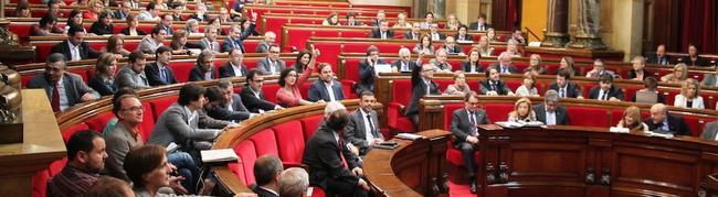 Votación en el Parlamento catalán, con la ausencia del PP   Parlamento catalán