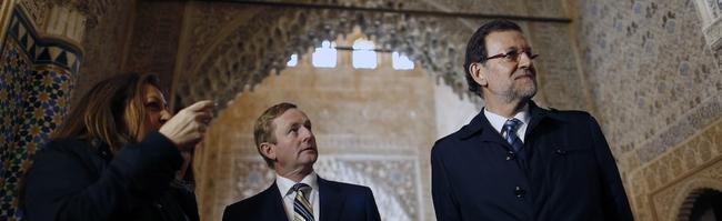 Rajoy, junto al primer ministro irlandés en la Alhambra de Granada | Diego Crespo
