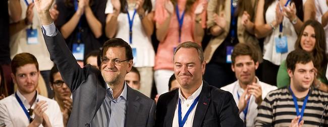 Rajoy y Fabra este sábado en Peñíscola | Tarek/PP