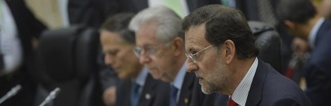 Rajoy con Monti este viernes. | Diego Crespo