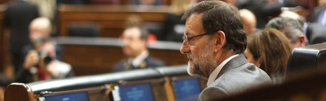 Rajoy, pensativo, en la sesión de control al Gobierno | Diego Crespo