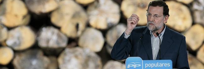 Rajoy, durante su mitin en Rois.| PP/Tarek