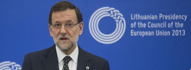 Mariano Rajoy atiende a la prensa, este viernes, en Lituania. | Moncloa