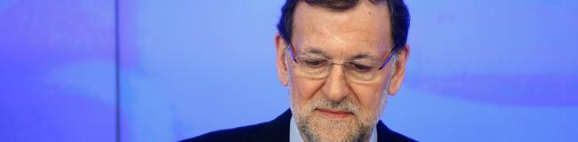 Mariano Rajoy, este sábado, en la sede del PP. | Cordon Press