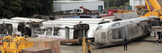 Los restos del tren, almacenados y puestos bajo custodia judicial | Cordon Press