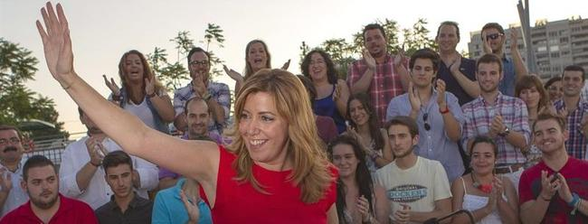 Susana Díaz, en un acto tras conocerse el resultado   EFE