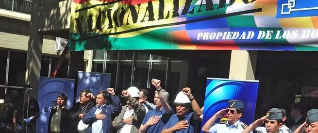 Evo Morales hoy tras expropiar REE | EFE