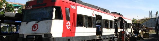 Aspecto que tenía el vagón de Santa Eugenia en Tafesa el 21/9/2004. | Libertad Digital