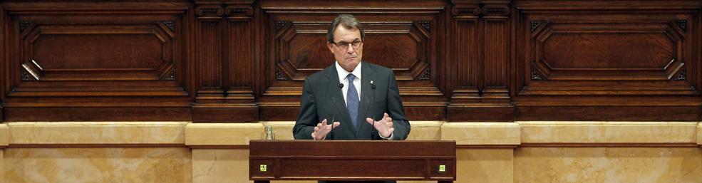 Mas, en el Parlamento de Cataluña   EFE