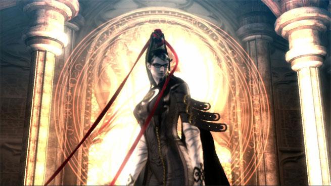 La protagonista del juego, Bayonetta