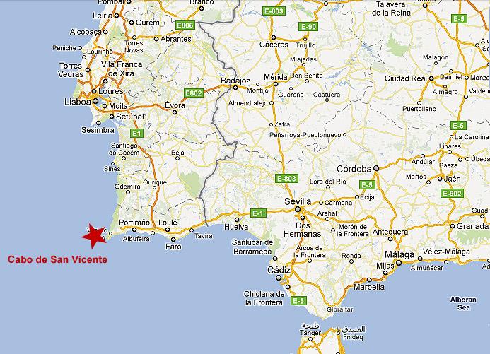 mapa de portugal cabos Cabo San Vicente, el 'finisterre' portugués   Artículos de viaje  mapa de portugal cabos