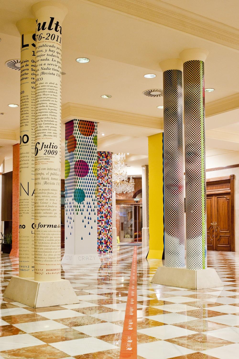 Cambia el chip con las columnas chic - Decoracion columnas salon ...