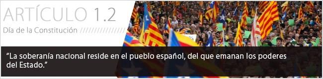 La soberanía nacional reside en el pueblo español, del que emanan los poderes del Estado