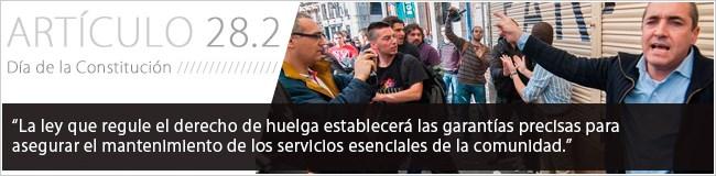 La ley que regule el ejercicio de este derecho establecerá las garantías precisas para asegurar el mantenimiento de los servicios esenciales de la comunidad.