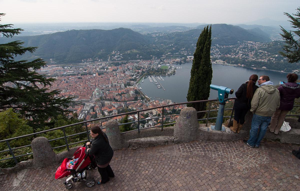 La ciudad de Como, vista desde Brunate