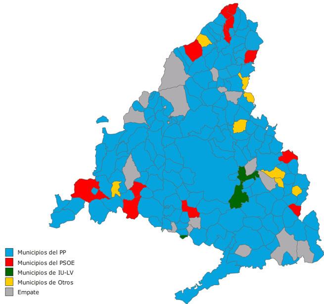 Municipios De Madrid Mapa.El Psoe Fulminado En El Mapa De Los Municipios De Madrid