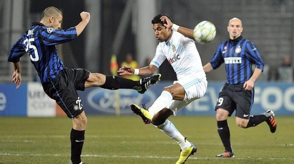 Lance del Marsella-Inter de Milán. | Archivo