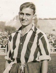 Monchín Triana, durante su etapa en el Atlético.