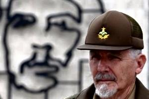 Ramiro Valdés, en la Plaza de la Revolución de La Habana.