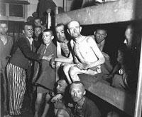Presos judíos en Ebensee el día de la liberación (mayo de 1945)