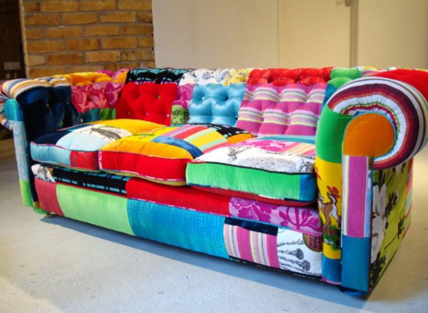 Qu podemos hacer con el patchwork chic for Muebles hippies