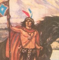 El guerrero mapuche Lautaro.