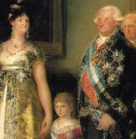 Detalle de LA FAMILIA DE CARLOS IV, de Goya.