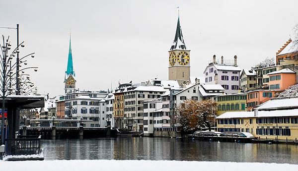 Una imagen de Zúrich bajo la nieve  | Suiza Turismo