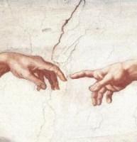 Detalle de LA CREACIÓN de Miguel Ángel.