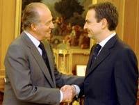 Don Juan Carlos y Zapatero.