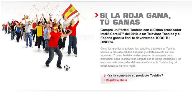 Web del concurso de Toshiba