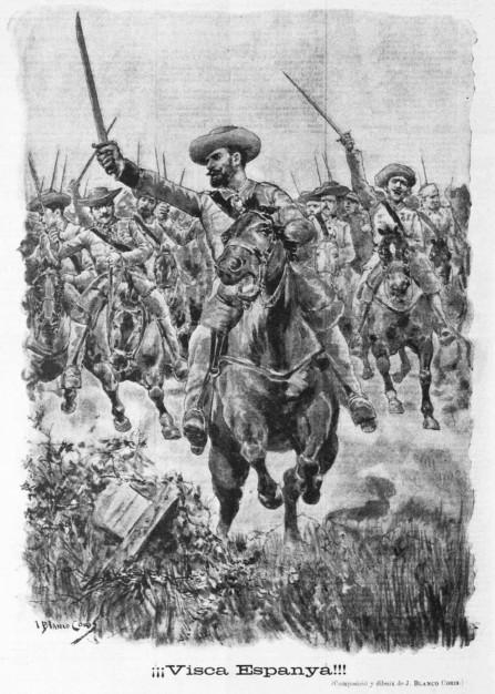 Viñeta aparecida en 'La Campana de Gràcia' el 14 de marzo de 1896.