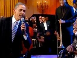 Obama canta con B.B. King en la Casablanca