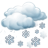 Cielos cubiertos con nevadas